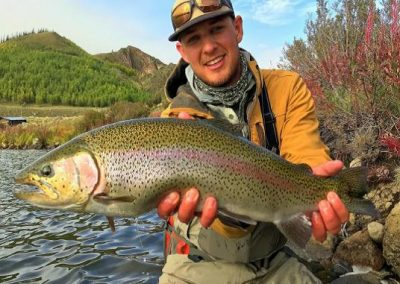 A beautiful rainbow caught at Pearl Lakes Trout Club! You can bid on a trip to Pearl Lakes Trout Club at the auction.