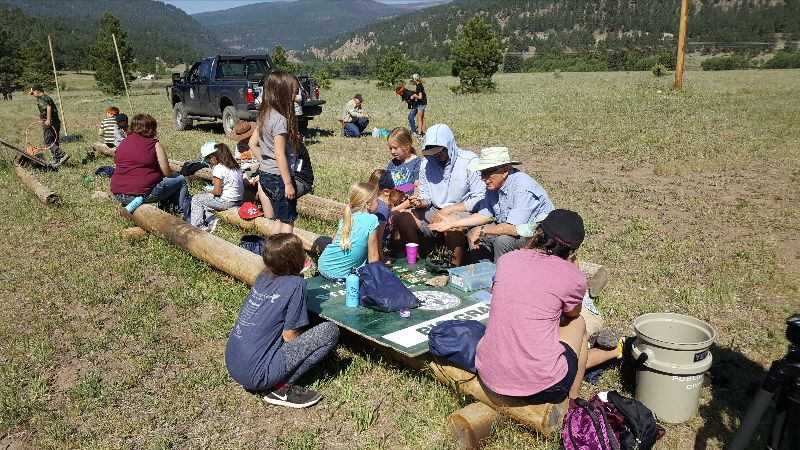 Children learning at Beaver Creek Conservation Camp