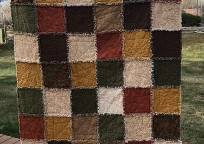 Jan Watkins' custom handmade quilt could be yours at the auction, should you be the successful bidder!
